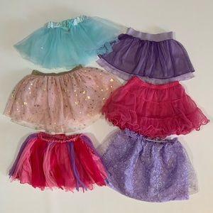 🍀3/$25 Lot of 6 Tutu Skirts